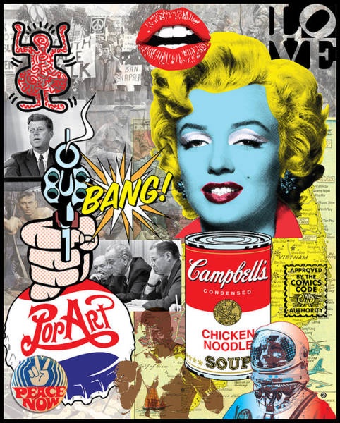 Digital Art - Pop Art Montage by Gary Grayson