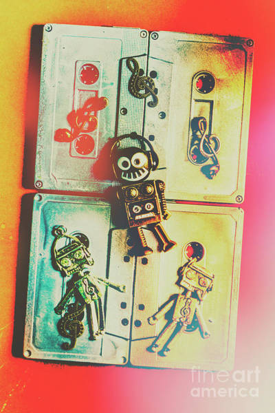 Grunge Music Wall Art - Photograph - Pop Art Music Robot by Jorgo Photography - Wall Art Gallery