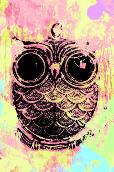 Liquid Digital Art - Pop Art Owl Watercolour by Jorgo Photography - Wall Art Gallery