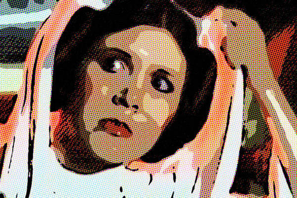 Pop Art Princess Leia Organa Art Print