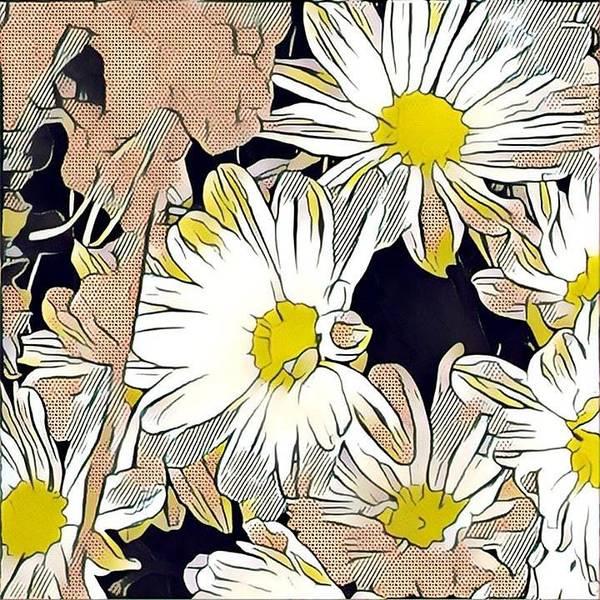Liechtenstein Digital Art - Pop Art Yellow Flower by Richard Miller