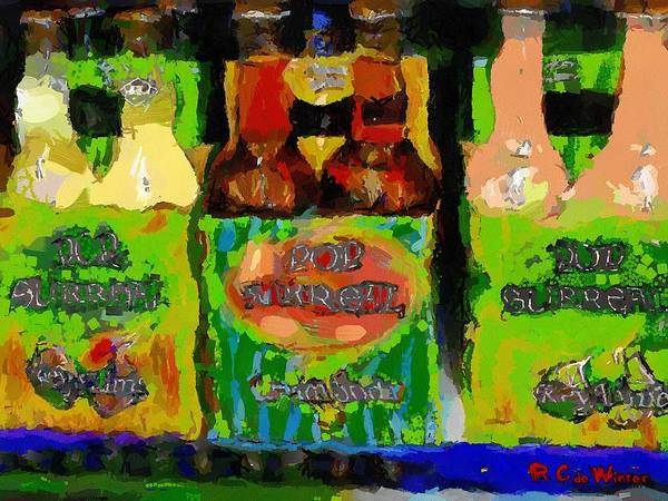 Soda Pop Painting - Pop Goes The Surrealism by RC DeWinter