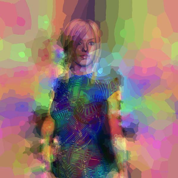 Digital Art - Pop Portrait Of Amber by Judi Suni Hall