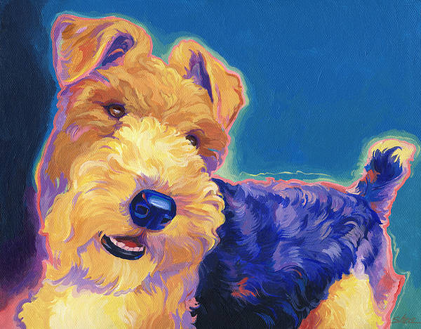 Wire Painting - Pop Wire Hair Fox Terrier by Shawn Shea