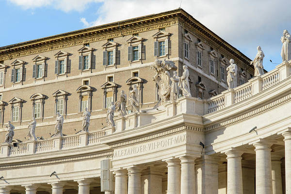 Apostolic Palace Photograph - Pope. Apostolic Palace. St. Peter's Square. Vatican City by Nicola Simeoni