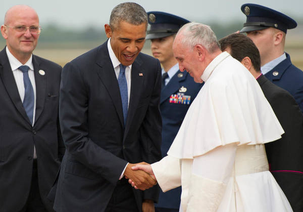 Wall Art - Photograph - Pope Francis And President Obama by Mountain Dreams
