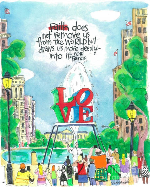 Painting - Pope Francis - Philly Love - Mmppl by Br Mickey McGrath OSFS