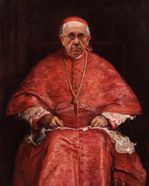 Painting - Pope Francis Renaissance Man Classic Treatment by Tony Rubino