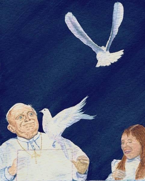 Painting - Pope John Paul II by Deborah Brown Maher