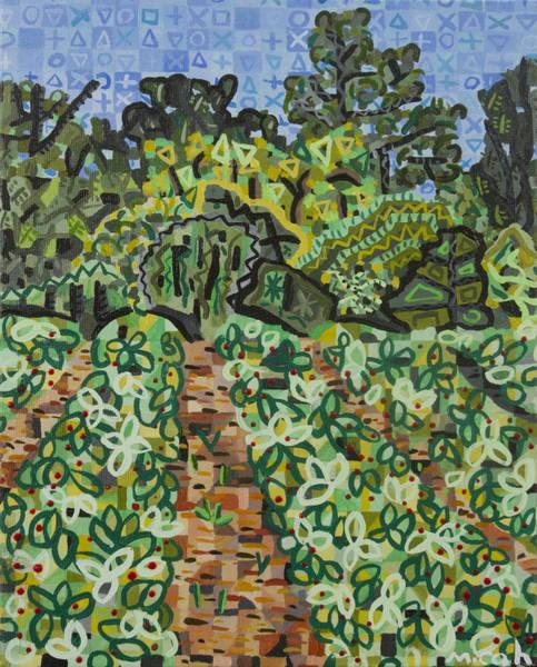 Strawberry Fields Wall Art - Painting - Pope Strawberry Fields by Micah Mullen