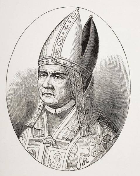 Wall Art - Drawing - Pope Sylvester I Who Ruled From 314 To by Vintage Design Pics