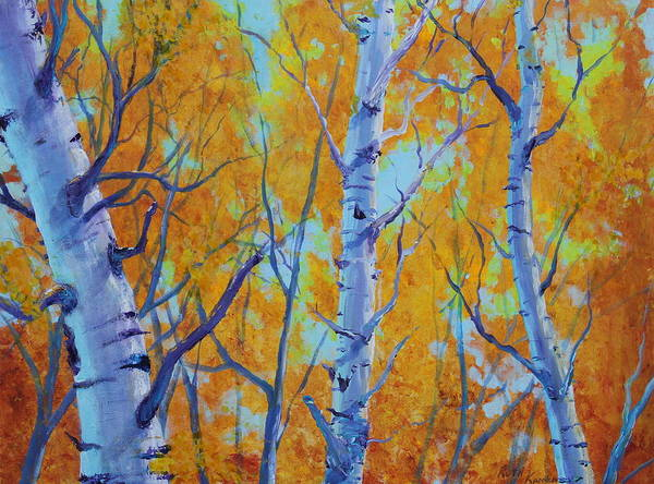 Painting - Poplar Stand by Ruth Kamenev