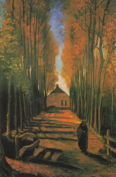 Painting - Poplars In Autumn by Vincent van Gogh