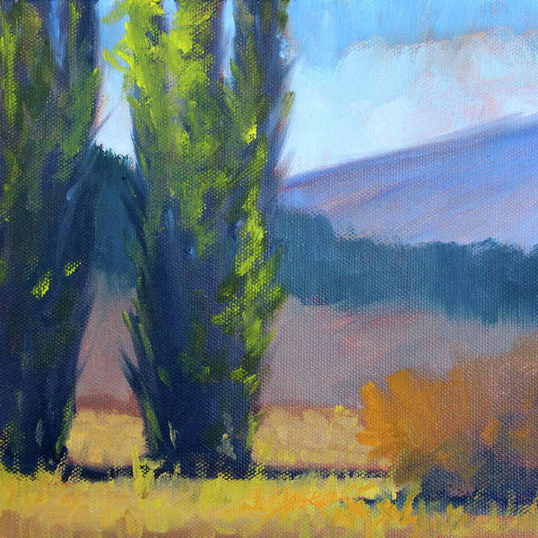 Poplar Painting - Poplars by Nancy Merkle
