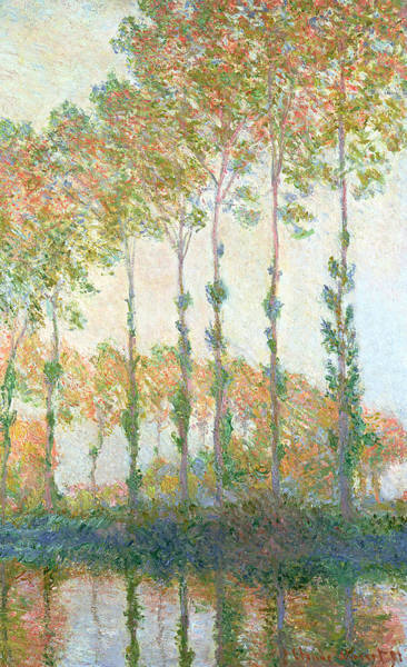 Poplar Painting - Poplars On The Banks Of The Epte In Autumn by Claude Monet