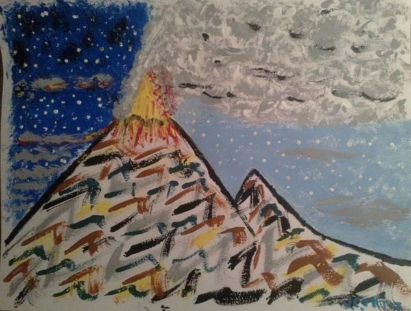 Volcanoe Painting - Popocatepetl by Juan Ortiz
