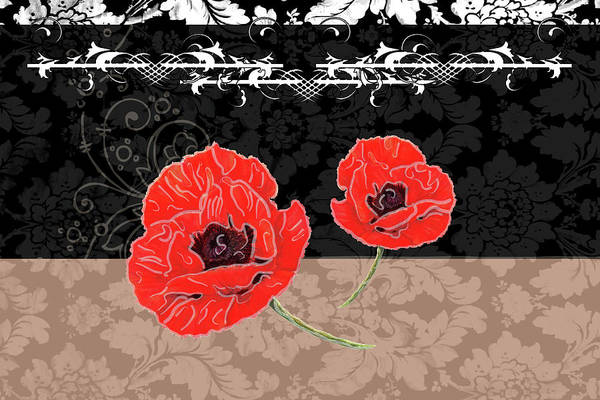 Red Poppy Mixed Media - Poppies 1 by Priscilla Huber