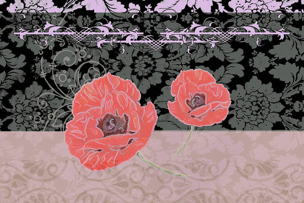 Red Poppy Mixed Media - Poppies 2 by Priscilla Huber