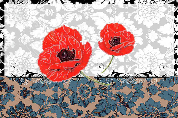Red Poppy Mixed Media - Poppies 4 by Priscilla Huber