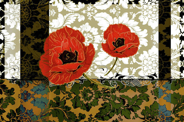 Red Poppy Mixed Media - Poppies 6 by Priscilla Huber