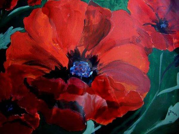 Painting - Poppies by Audrey Bunchkowski