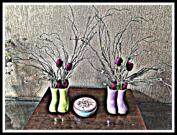 Wooden Shoe Digital Art - Poppies Decor by Jagjeet Kaur