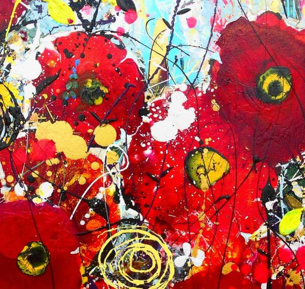 Wall Art - Painting - Poppies Detail 2 by Angie Wright