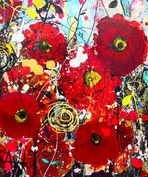 Wall Art - Painting - Poppies Detail by Angie Wright