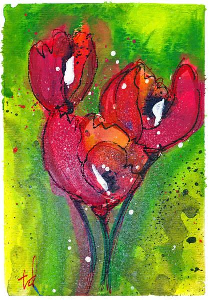 Red Poppy Mixed Media - Poppies I by Tonya Doughty