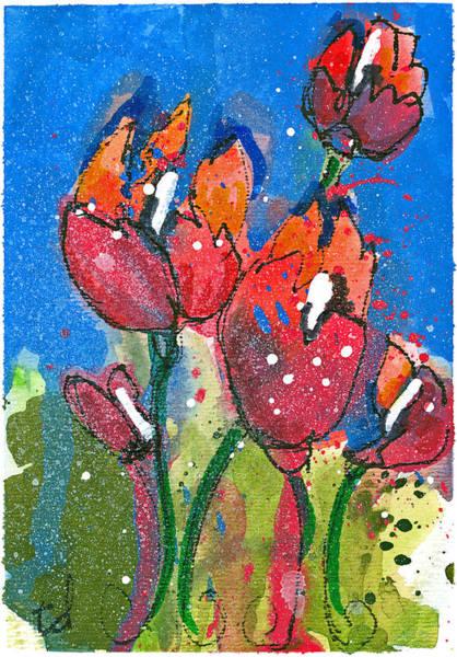 Red Poppy Mixed Media - Poppies II by Tonya Doughty