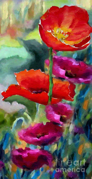 Painting - Poppies In Watercolor by Rafael Salazar