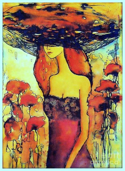 Wall Art - Painting - Poppies Lady by Suzann Sines