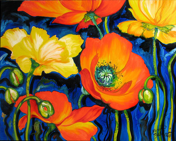Painting - Poppies by Marcia Baldwin
