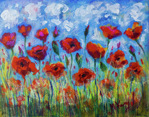 Painting - Poppies by Maxim Komissarchik