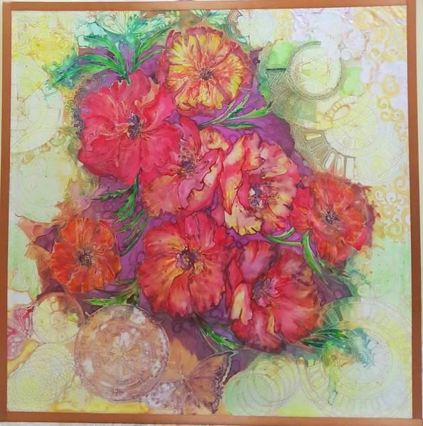 Acrilic Painting - Poppies by Natali Sokolova
