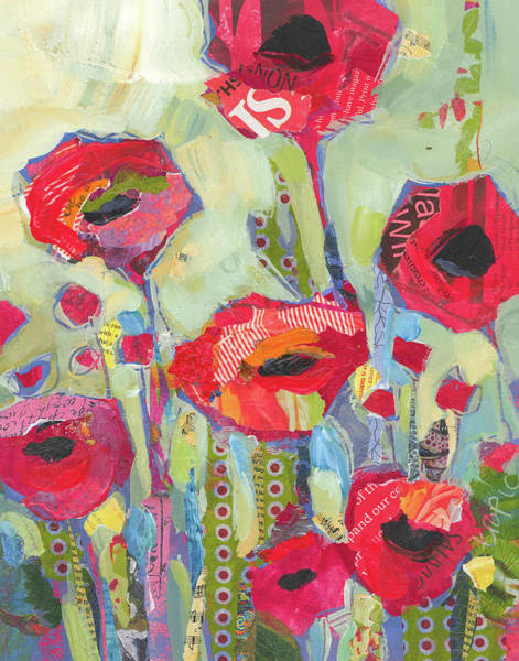 Red Floral Painting - Poppies No 5 by Shelli Walters