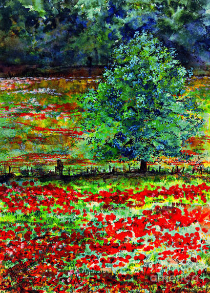 Painting - Poppies Of Somme Watercolor  by Ginette Callaway