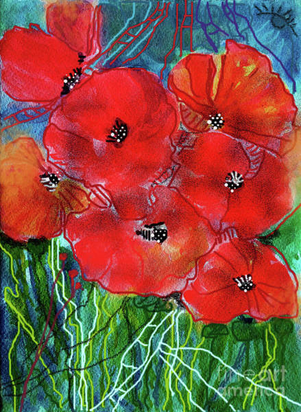 Wall Art - Painting - Poppies Of The World by Jasna Dragun