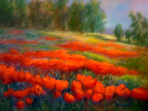 Lyle Painting - Poppies by Patricia Lyle