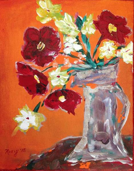 Flower Painting - Poppies by Roxy Rich