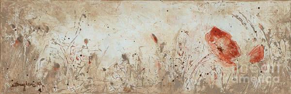 Wall Art - Painting - Poppy 2 by Aneta  Berghane