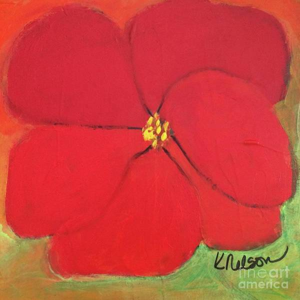 Painting - Poppy 2 by Kim Nelson