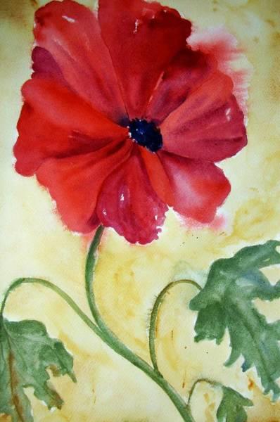 Painting - Poppy by Audrey Bunchkowski