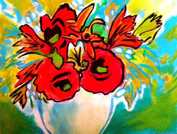 Painting - Poppy Bouquet Reworked by Nikki Dalton