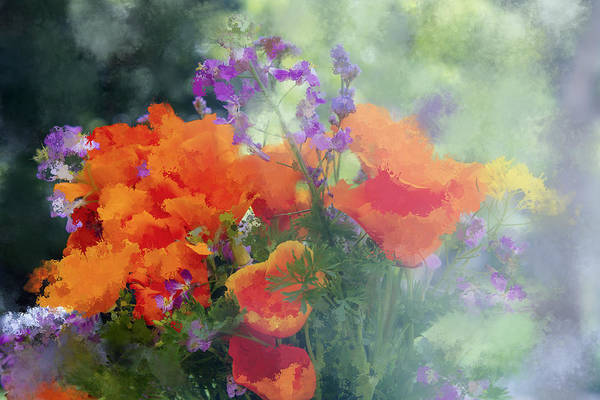 Wall Art - Digital Art - Poppy Bouquet by Terry Davis
