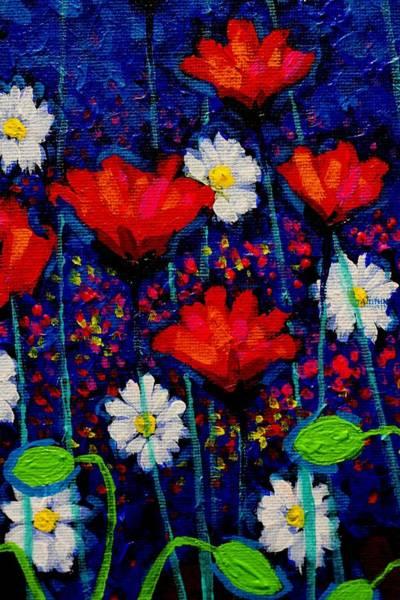 Wall Art - Painting - Poppy Cluster II by John  Nolan