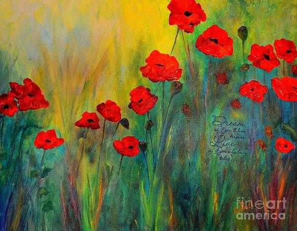 Painting - Poppy Dreams by Claire Bull