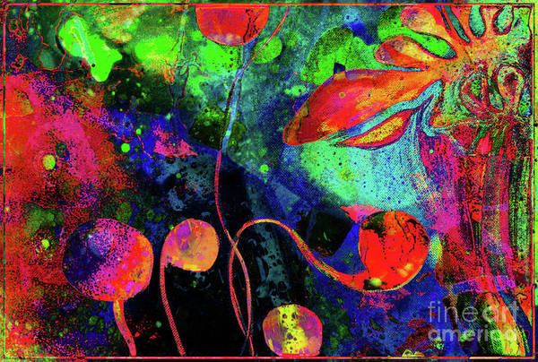 Mixed Media - Poppy Enchantment by Jolanta Anna Karolska