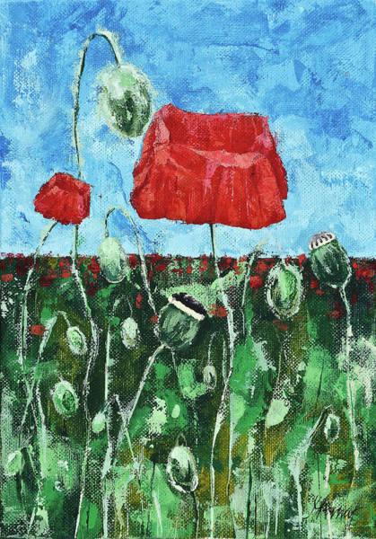 Painting - Poppy Family by Maria Arnaudova