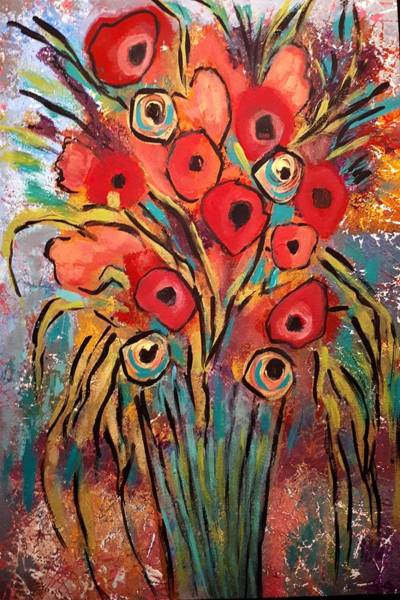 Painting - Poppy Fest by Nikki Dalton